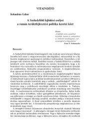 A Székelyföld fejlődési esélyei a román területfejlesztési politika ...