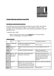 Verslag milieuraad maandag 2 maart 2009 - Gemeente Zwijndrecht