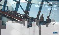 MEMORANDUM STADTBAUKULTUR NRW 2020 - M:AI