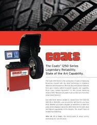 The Coats® 1250 Series Legendary Reliability ... - NY Tech Supply