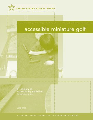 accessible miniature golf - United States Access Board