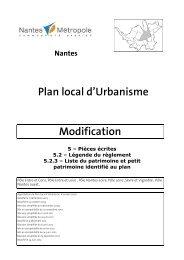 liste générale future - Le plan local d'urbanisme de Nantes Métropole