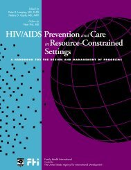 X HIV/AIDS Prevention and Care in Resource-Constrained Settings