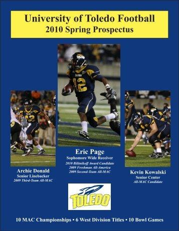 2010 Toledo Football Spring Prospectus - University of Toledo ...