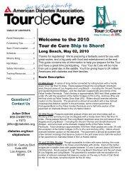 The 2010 Tour De Cure Ship To Shore! - American Diabetes ...