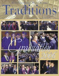 Traditions Summer 2006.indd - Junipero Serra High School