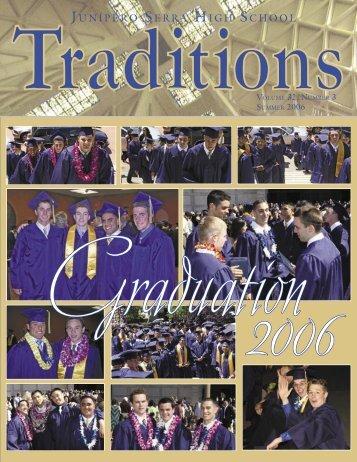 Traditions Summer 2006.indd - Junipero Serra High School