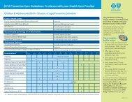 Preventive Care Guidelines - Lake County