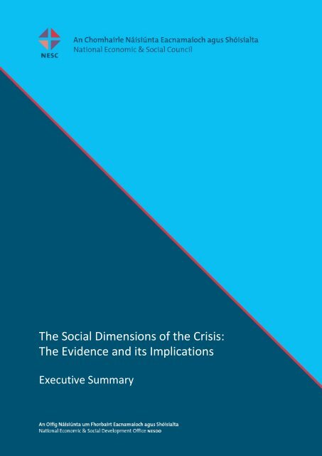 The Social Dimensions of the Crisis: The Evidence and its Implications