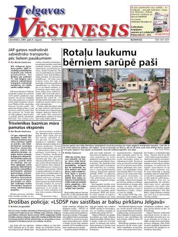 2009. gada 6. augusts. Nr.30(114) - Jelgavas Vēstnesis