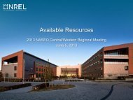 NREL Available Resources - National Association of State Energy ...