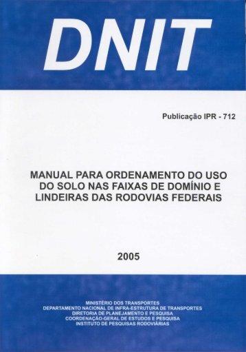 Manual para Ordenamento do Uso do Solo nas Faixas ... - IPR - Dnit