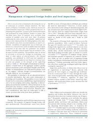 Management Of Ingested Foreign Bodies and Food Impactions (PDF)