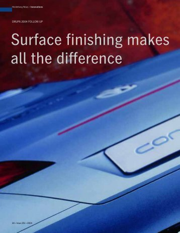 Surface finishing makes all the difference - Graphic Repro Online