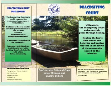 Peacegiving Court - Confederated Tribes of Coos, Lower Umpqua ...