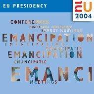 EU PRESIDENCY - Rete Pari Opportunita