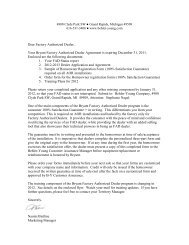 cover letter for 2012 Factory Authorized Dealer ... - Behler-Young