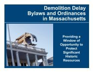 Preventing Demolition of Historic Structures - Cape Cod Commission
