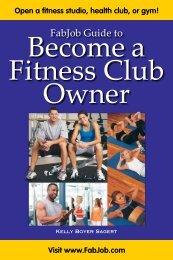 Fitness Club Owner - Fabjob.com