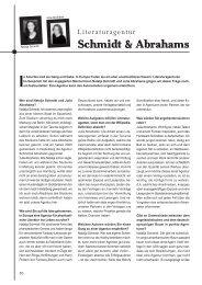 Dr. Miriam Leis im Interview - Literaturagentur Schmidt & Abrahams