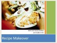 Recipe Makeover - Wellness