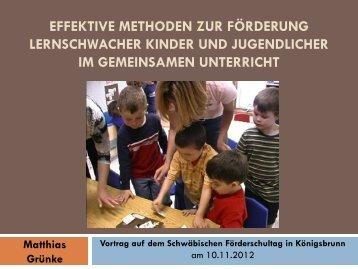 Berufsvorbereitung von lernbehinderten Schülerinnen und Schülern ...