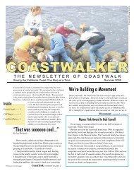 Summer 2005 Newsletter - Coastwalk
