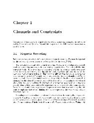 Chapter 1 Channels and Constraints - STAR | UCSD