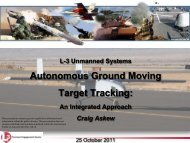 Autonomous Ground Moving Target Tracking - Vehicle Systems and ...