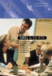 What SMEs use EU RTD programmes?