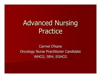 Advanced Nursing Practice