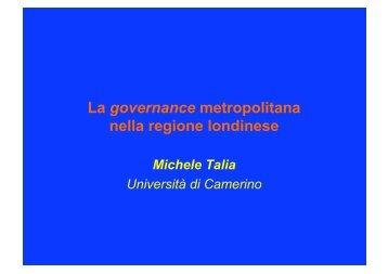 La governance metropolitana nella regione londinese
