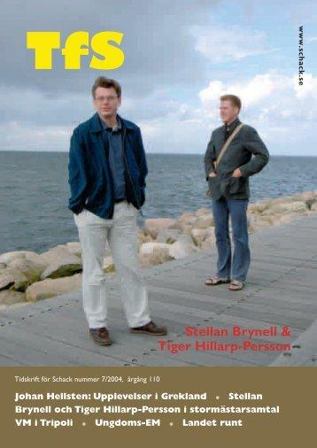 Stellan Brynell & Tiger Hillarp-Persson - Sveriges Schackförbund