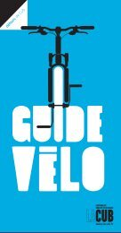 Guide vélo - La CUB