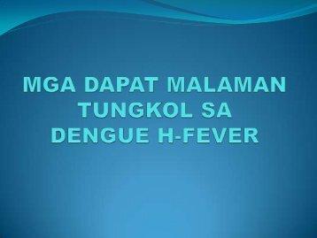 mga dapat malaman tungkol sa dengue h-fever - DepEd Naga City