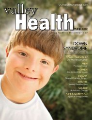 DOWN SYNDROME - Valley Health Magazine