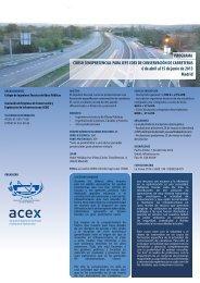 + Ver programa - Colegio de Ingenieros Técnicos de Obras Públicas