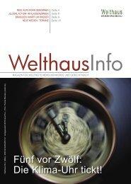 Klimawandel (März - Mai 2009) - Welthaus Graz