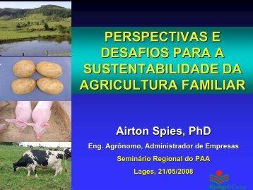 perspectivas e desafios para a sustentabilidade da agricultura ... - PAA
