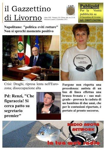 ilgazzettino 23092013 - il gazzettino di Livorno