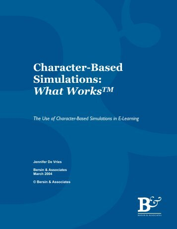 Character Based Simulations: What Works