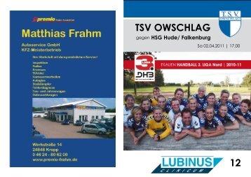 Hude/Falkenburg - TSV Owschlag