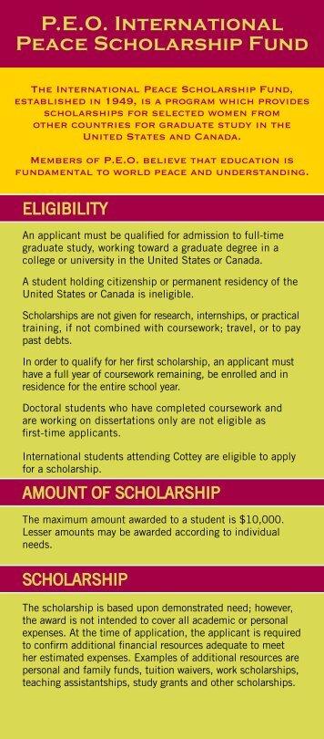 P.E.O. International Peace Scholarship Fund