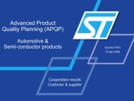 Advanced Product Quality Planning - APQP - SupplyOn