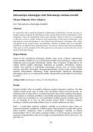 Informācijas tehnoloģijas riski Informācijas sistēmu izstrādē Oksana ...