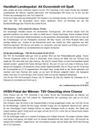 Handball-Landespokal: Alt Duvenstedt mit Spaß ... - TSV Owschlag