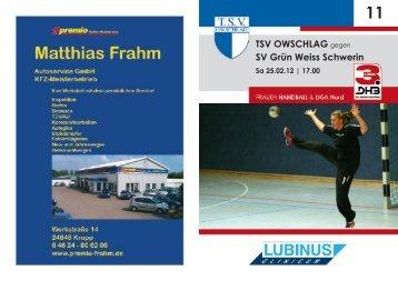 2011-12 INTERNET Hh11.indd - TSV Owschlag