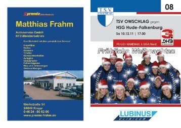 Spitzenspiel der SH-LIGA | Weibliche Jugend A - TSV Owschlag