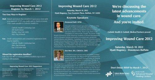 Improving Wound Care 2012 - Catholic Health System