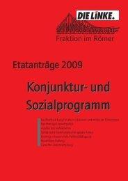 Reader mit allen Etatanträgen für den Haushalt 2009